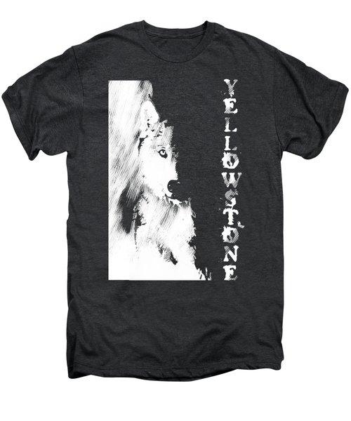 Yellowstone Wolf T-shirt Men's Premium T-Shirt by Max Waugh