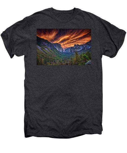 Yosemite Fire Men's Premium T-Shirt by Rick Berk