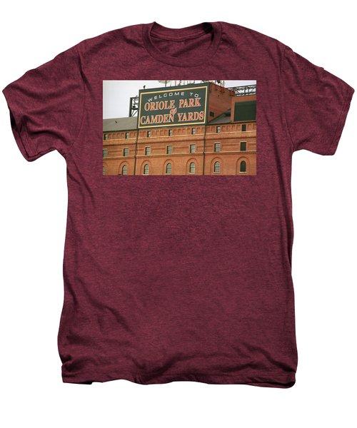 Baltimore Orioles Park At Camden Yards Men's Premium T-Shirt by Frank Romeo