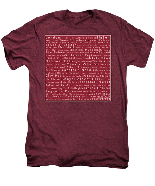 London In Words Red Men's Premium T-Shirt by Sabine Jacobs