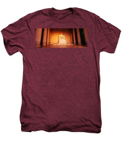 Low Angle View Of A Statue Of Abraham Men's Premium T-Shirt by Panoramic Images