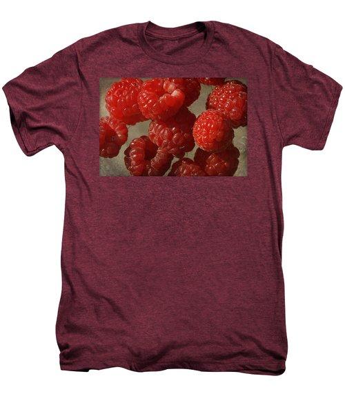Red Raspberries Men's Premium T-Shirt by Cindi Ressler