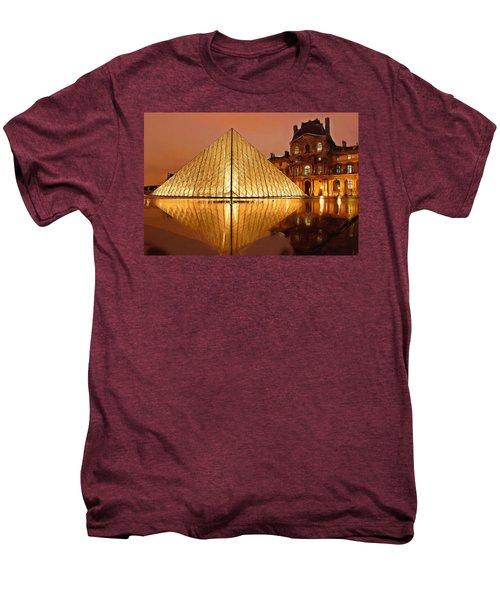The Louvre By Night Men's Premium T-Shirt by Ayse Deniz