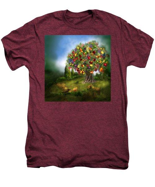 Tree Of Abundance Men's Premium T-Shirt by Carol Cavalaris
