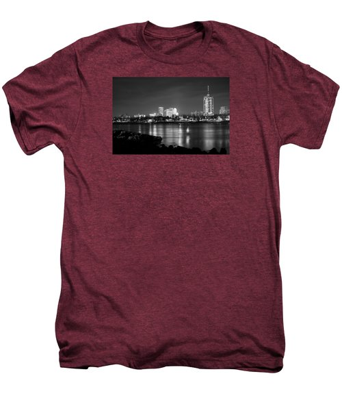 Tulsa In Black And White - University Tower View Men's Premium T-Shirt by Gregory Ballos