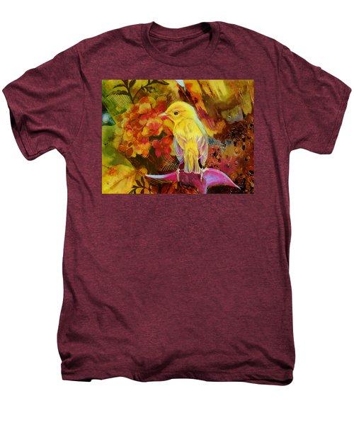 Yellow Bird Men's Premium T-Shirt by Catf