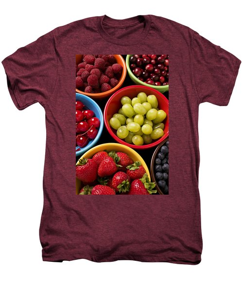 Bowls Of Fruit Men's Premium T-Shirt by Garry Gay