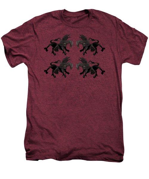 Dragon Cutout Men's Premium T-Shirt by Vladi Alon