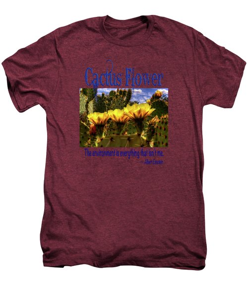 Prickly Pear Cactus Flowers Men's Premium T-Shirt by Roger Passman