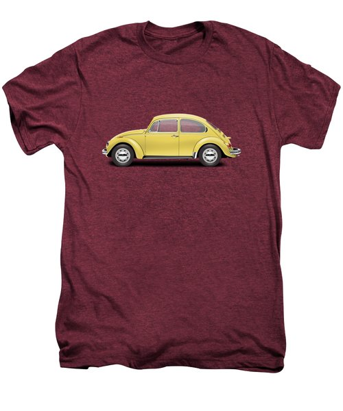 1972 Volkswagen Beetle - Saturn Yellow Men's Premium T-Shirt by Ed Jackson