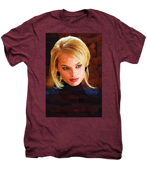 Margot Robbie Painting Men's Premium T-Shirt by Best Actors