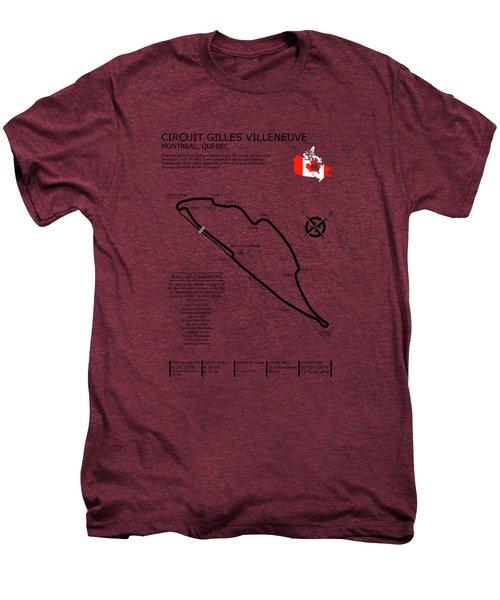 Circuit Gilles Villeneuve Men's Premium T-Shirt by Mark Rogan