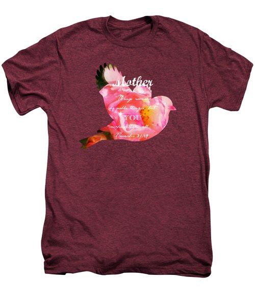Roses - Verse Men's Premium T-Shirt by Anita Faye