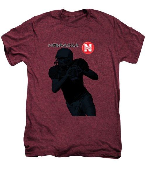 Nebraska Football Men's Premium T-Shirt by David Dehner