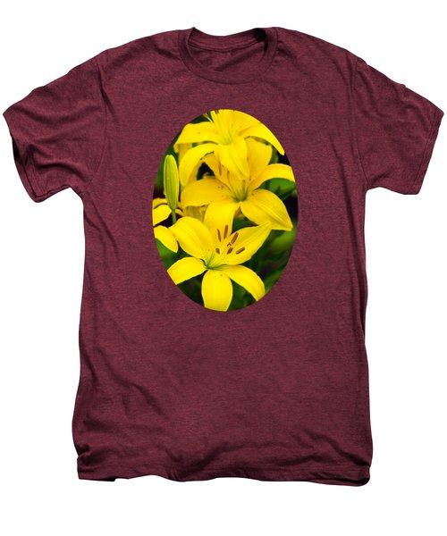Yellow Lilies Men's Premium T-Shirt by Christina Rollo