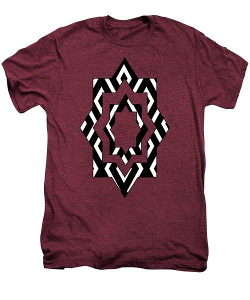 Black And White Pattern Men's Premium T-Shirt by Christina Rollo