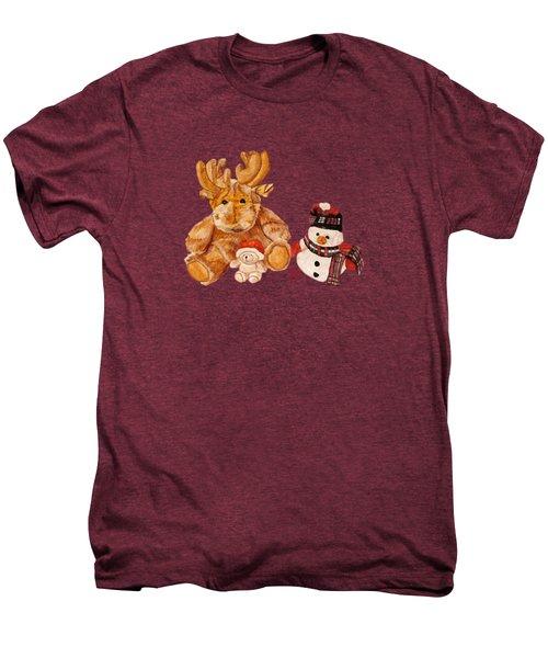 Christmas Buddies Men's Premium T-Shirt by Angeles M Pomata
