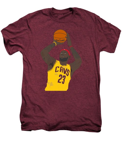 Cleveland Cavaliers - Lebron James - 2014 Men's Premium T-Shirt by Troy Arthur Graphics