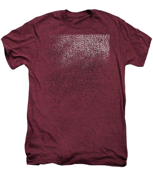 Cloud Of Birds Red Sky Men's Premium T-Shirt by Sverre Andreas Fekjan