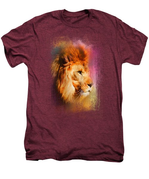 Colorful Expressions Lion Men's Premium T-Shirt by Jai Johnson