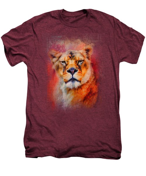 Colorful Expressions Lioness Men's Premium T-Shirt by Jai Johnson