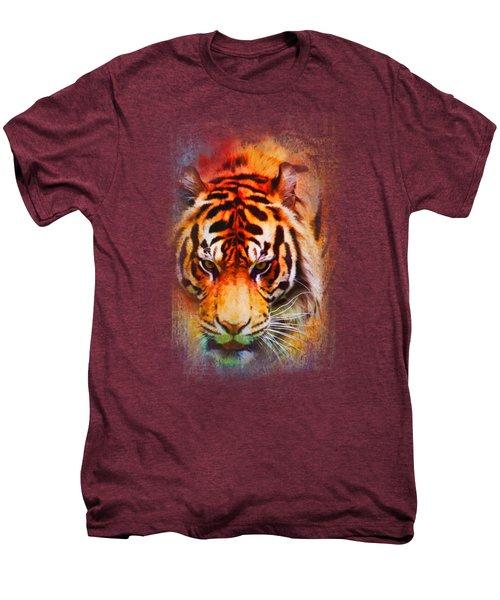 Colorful Expressions Tiger Men's Premium T-Shirt by Jai Johnson