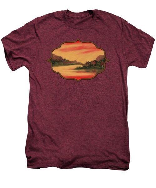 Dragon Sunset Men's Premium T-Shirt by Anastasiya Malakhova