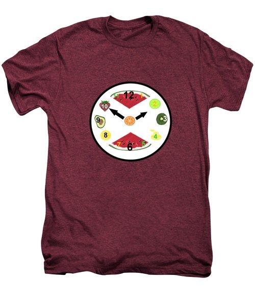 Food Clock Men's Premium T-Shirt by Kathleen Sartoris