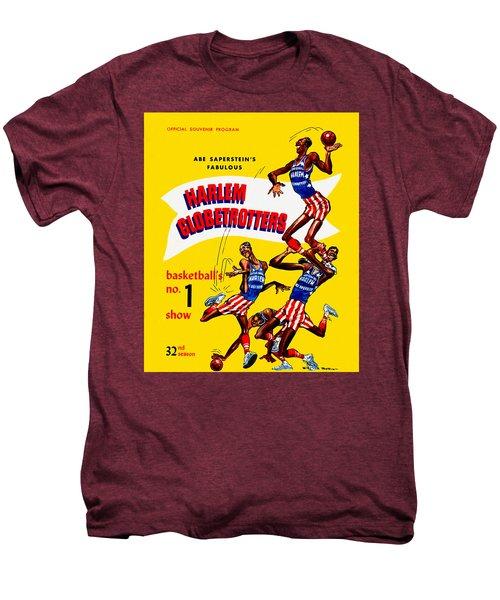 Harlem Globetrotters Vintage Program 32nd Season Men's Premium T-Shirt by Big 88 Artworks