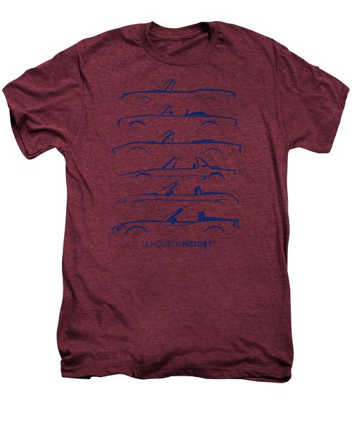 Italian Roadster Silhouettehistory Men's Premium T-Shirt by Gabor Vida