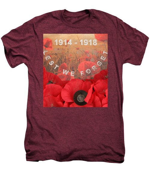 Men's Premium T-Shirt featuring the photograph Lest We Forget - 1914-1918 by Travel Pics