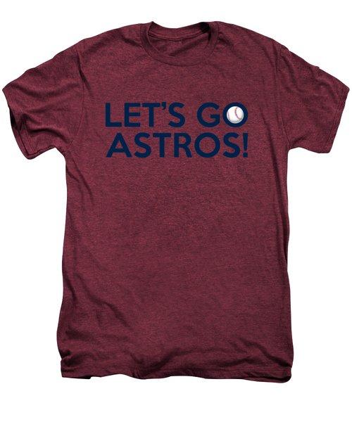 Let's Go Astros Men's Premium T-Shirt by Florian Rodarte