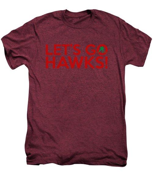 Let's Go Hawks Men's Premium T-Shirt by Florian Rodarte