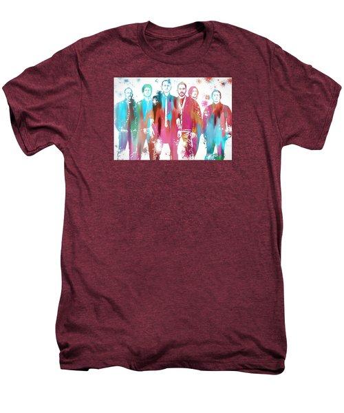 Linkin Park Watercolor Paint Splatter Men's Premium T-Shirt by Dan Sproul