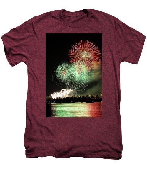 Montreal-fireworks Men's Premium T-Shirt by Mircea Costina Photography
