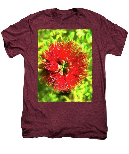 My Surreal Christmas Flower Men's Premium T-Shirt by Jackie VanO