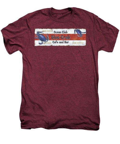 Ocean Club Cafe Men's Premium T-Shirt by Debbie DeWitt