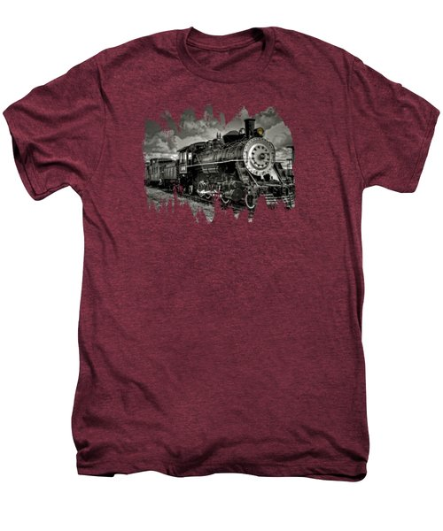 Old 104 Steam Engine Locomotive Men's Premium T-Shirt by Thom Zehrfeld