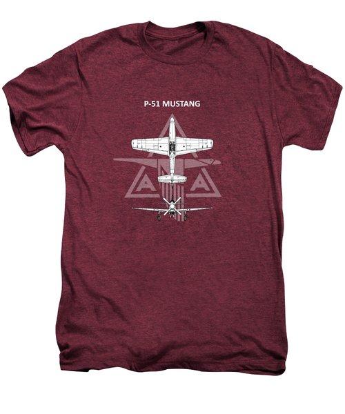 P-51 Mustang Men's Premium T-Shirt by Mark Rogan