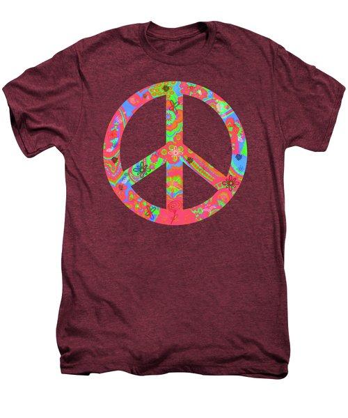 Peace Men's Premium T-Shirt by Linda Lees