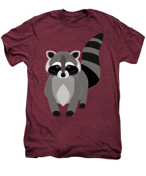Raccoon Mischief Men's Premium T-Shirt by Antique Images