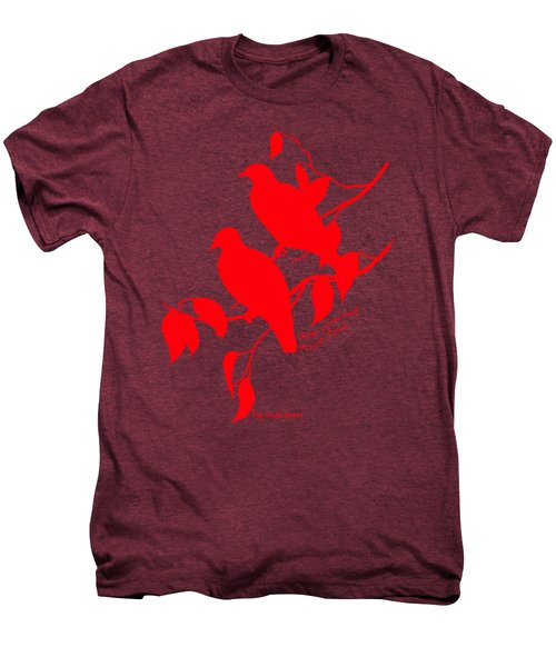 Red Doves Men's Premium T-Shirt by The one eyed Raven