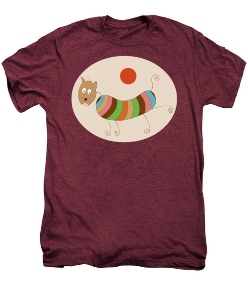 Sausage Dog In Ketchup Sunset Men's Premium T-Shirt by Frank Tschakert