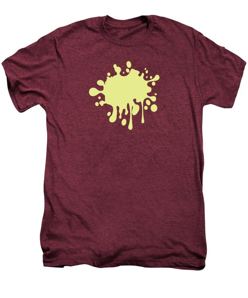 Solid Yellow Pastel Color Men's Premium T-Shirt by Garaga Designs