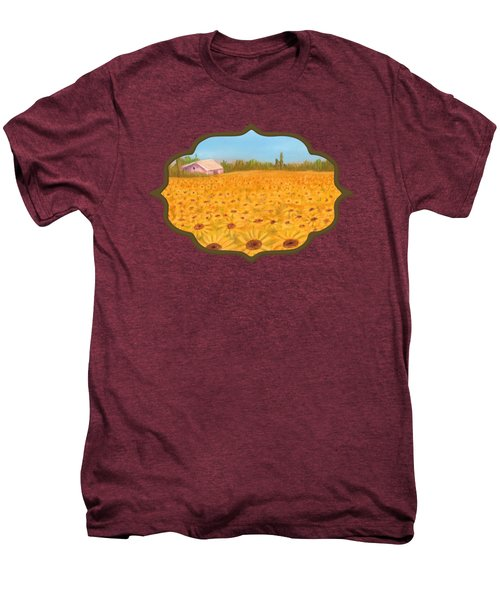 Sunflower Field Men's Premium T-Shirt by Anastasiya Malakhova