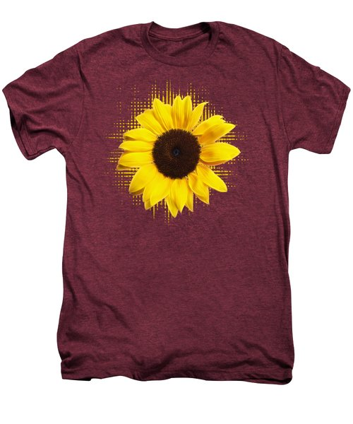 Sunflower Sunburst Men's Premium T-Shirt by Gill Billington