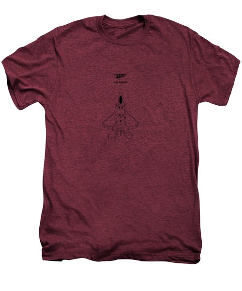 The F-22 Raptor Men's Premium T-Shirt by Mark Rogan