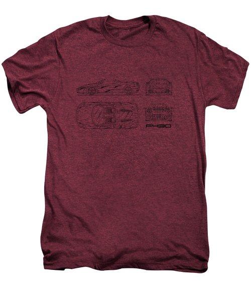 The F430 Blueprint - White Men's Premium T-Shirt by Mark Rogan