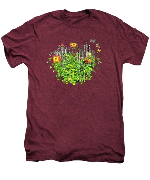 The Flowers Along The Fence  Men's Premium T-Shirt by Thom Zehrfeld