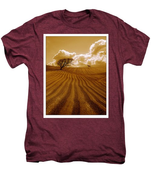 The Ploughed Field Men's Premium T-Shirt by Mal Bray